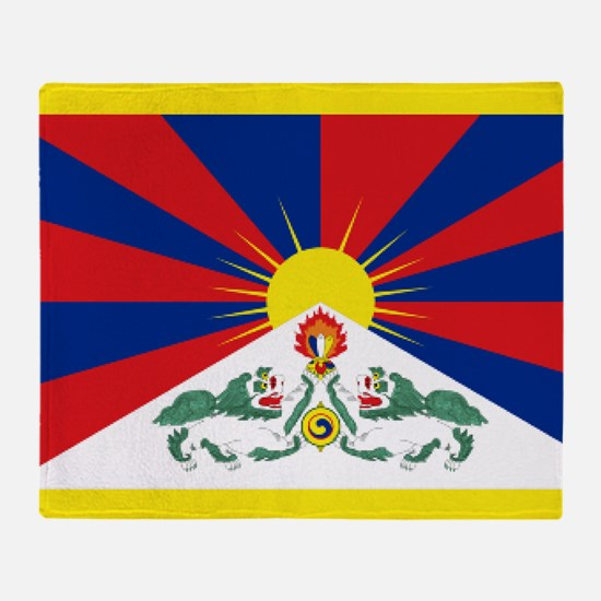 Tibet flag Throw Blanket