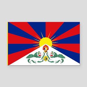 Tibet flag Rectangle Car Magnet