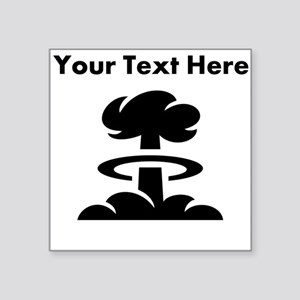 Custom Mushroom Cloud Sticker