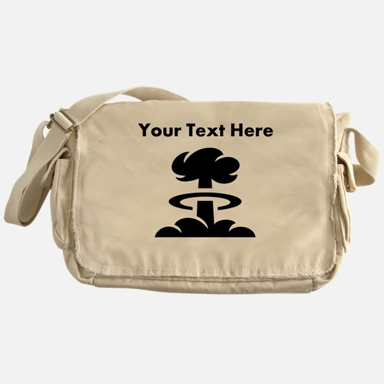 Custom Mushroom Cloud Messenger Bag