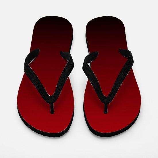 vampire red ombre Flip Flops