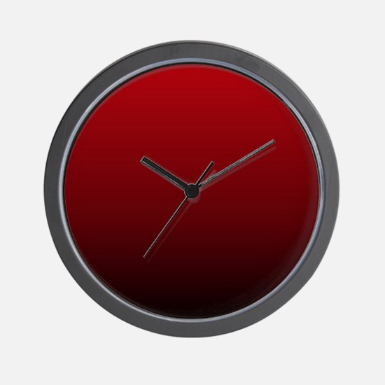 vampire red ombre Wall Clock