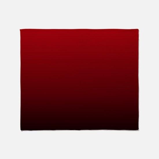 vampire red ombre Throw Blanket