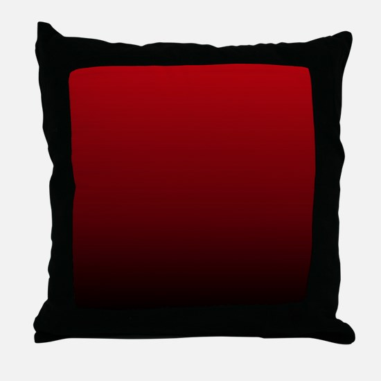 vampire red ombre Throw Pillow