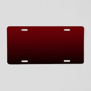 vampire red ombre Aluminum License Plate