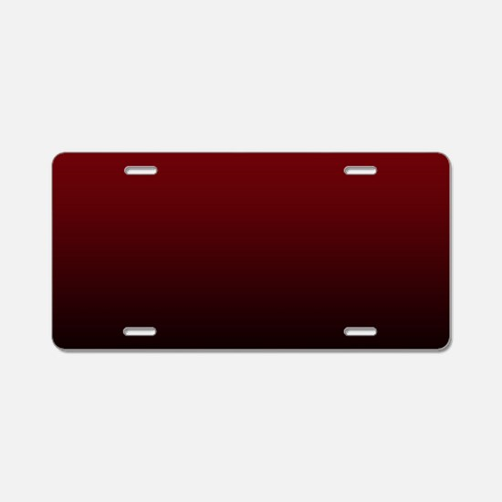 vampire red ombre Aluminum License Plate