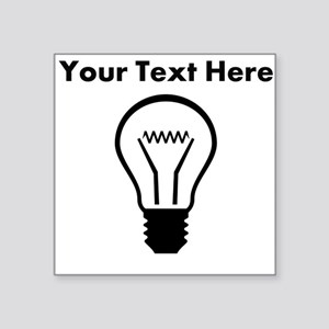 Custom Light Bulb Sticker
