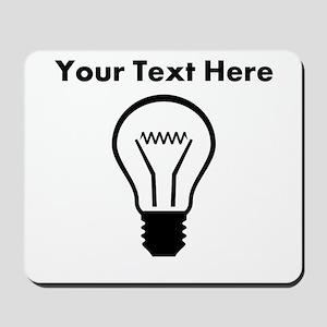 Custom Light Bulb Mousepad