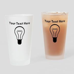 Custom Light Bulb Drinking Glass