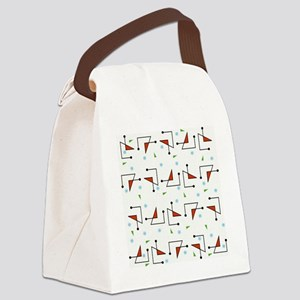 Retro Diodes Canvas Lunch Bag