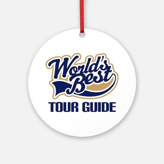Tour Guide Ornament (Round)