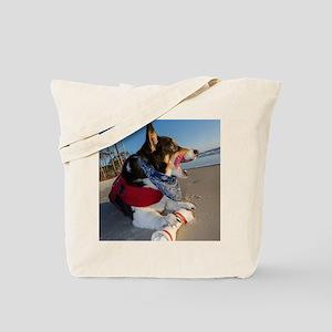 Corgi Licking his Chops Tote Bag