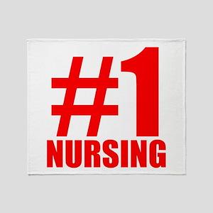 Number 1 Nursing Throw Blanket
