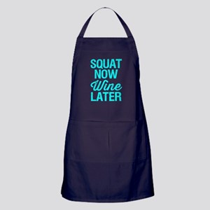 Squat Now Wine Later Apron (dark)