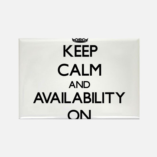 Keep Calm and Availability ON Magnets