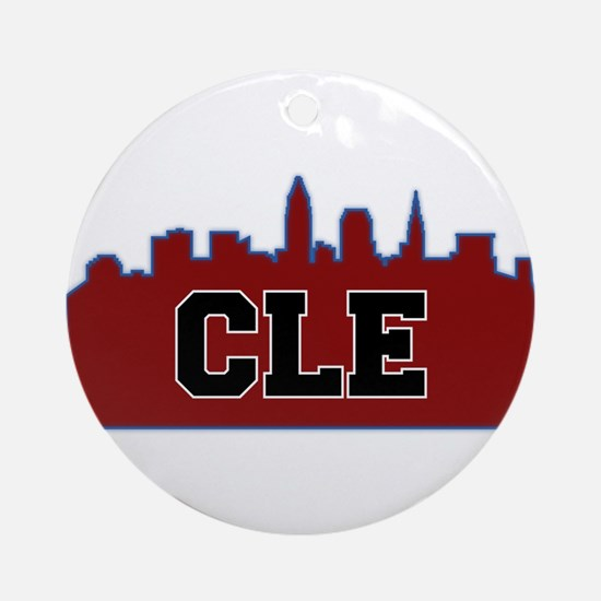 CLE Maroon/Black Ornament (Round)