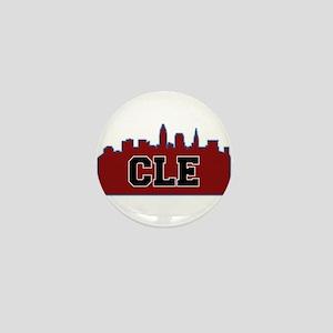 CLE Maroon/Black Mini Button