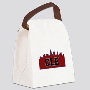 CLE Maroon/Black Canvas Lunch Bag