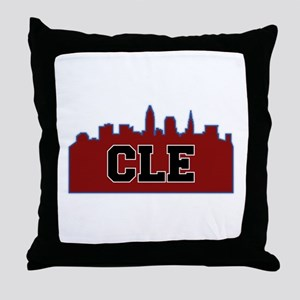 CLE Maroon/Black Throw Pillow