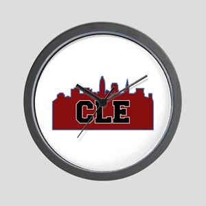CLE Maroon/Black Wall Clock