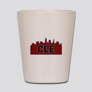 CLE Maroon/Black Shot Glass
