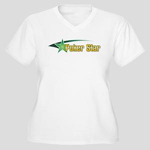 Poker Star Women's Plus Size V-Neck T-Shirt