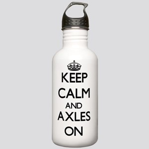 Keep Calm and Axles ON Stainless Water Bottle 1.0L