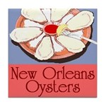 New Orleans Oysters Tile Coaster