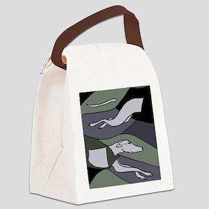 Racing Greyhound Art Canvas Lunch Bag