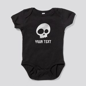 CUSTOM Skull with Your Text/Name Baby Bodysuit