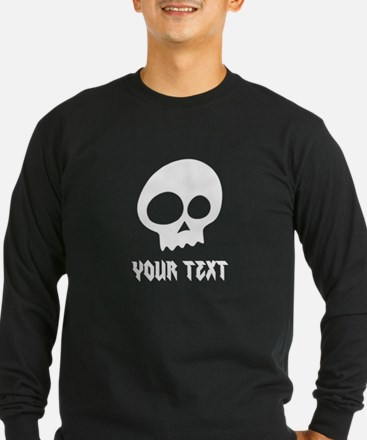 CUSTOM Skull with Your Text/Name Long Sleeve T-Shi