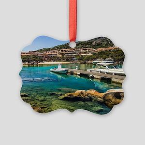 Porto Cervo's little Molo Picture Ornament