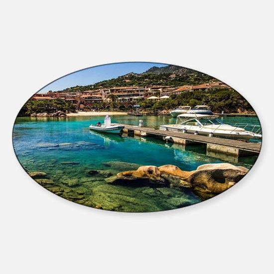 Porto Cervo's little Molo Sticker (Oval)