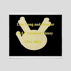 Leonard Nimoy RIP Throw Blanket