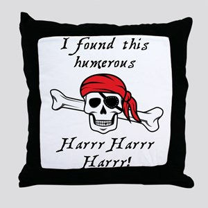 I found this humerous Pirate Throw Pillow