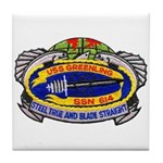USS GREENLING Tile Coaster