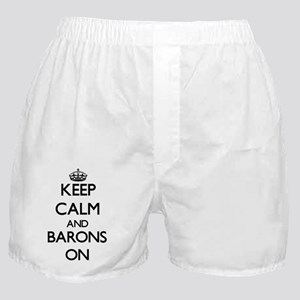 Keep Calm and Barons ON Boxer Shorts