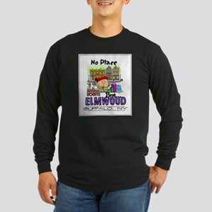 No Place But Elmwood Long Sleeve Dark T-Shirt