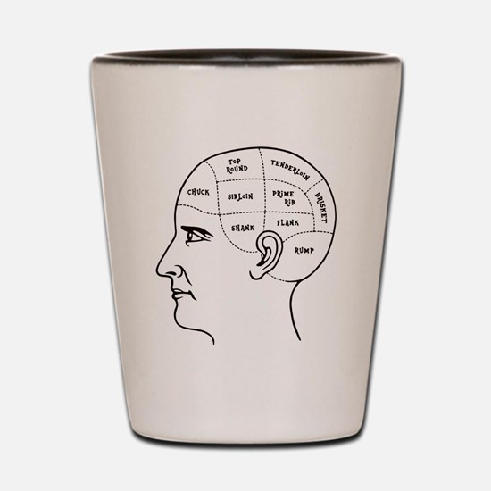Meathead Phrenologist Shot Glass