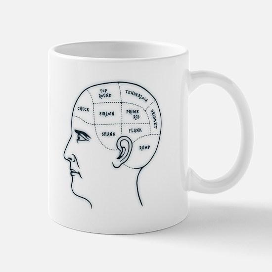 Meathead Phrenologist Mug