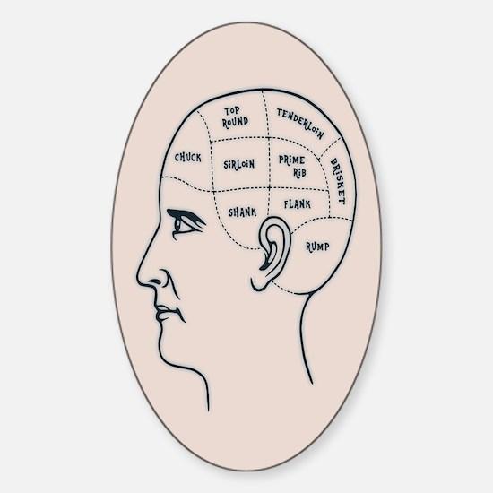 Meathead Phrenologist Sticker (Oval)