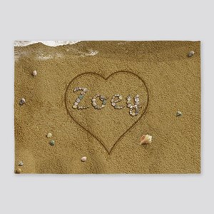 Zoey Beach Love 5'x7'Area Rug