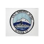 USS GREGORY Throw Blanket