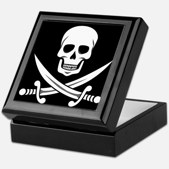 Skull and Swords Jolly Roger Keepsake Box