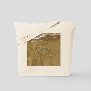 Zoe Beach Love Tote Bag