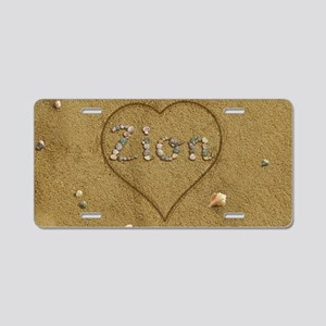 Zion Beach Love Aluminum License Plate