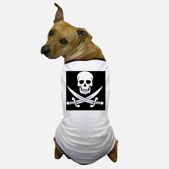 Skull and Swords Jolly Roger Dog T-Shirt