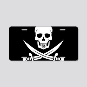 Skull and Swords Jolly Roge Aluminum License Plate