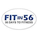 FITin56 Sticker (Oval)