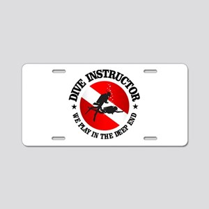 Dive Instructor (Deep End) Aluminum License Plate